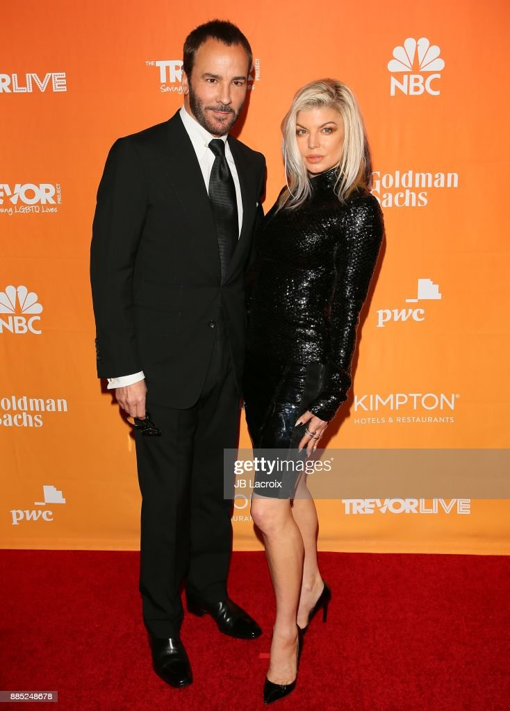 Tom Ford and Fergie attend The Trevor Project's 2017 TrevorLIVE LA on December 3, 2017 in Beverly Hills, California.