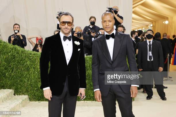 Tom Ford and Heron Preston attend The 2021 Met Gala Celebrating In America: A Lexicon Of Fashion at Metropolitan Museum of Art on September 13, 2021...