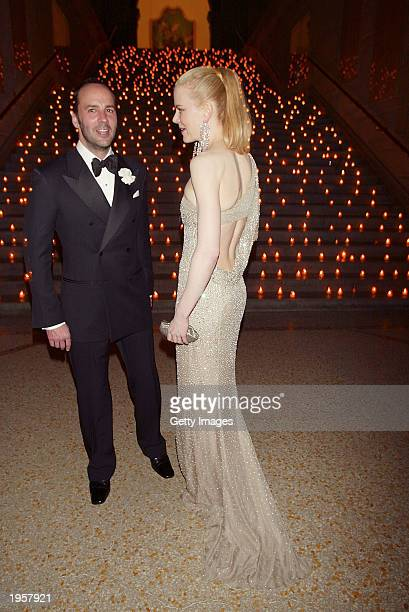 Tom Ford and Nicole Kidman attend the Costume Institute Benefit Gala sponsored by Gucci April 28 2003 at The Metropolitan Museum of Art in New York...