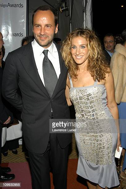 Tom Ford and Sarah Jessica Parker in Gucci during 2003 National Design Awards at CooperHewitt Museum in New York City New York United States