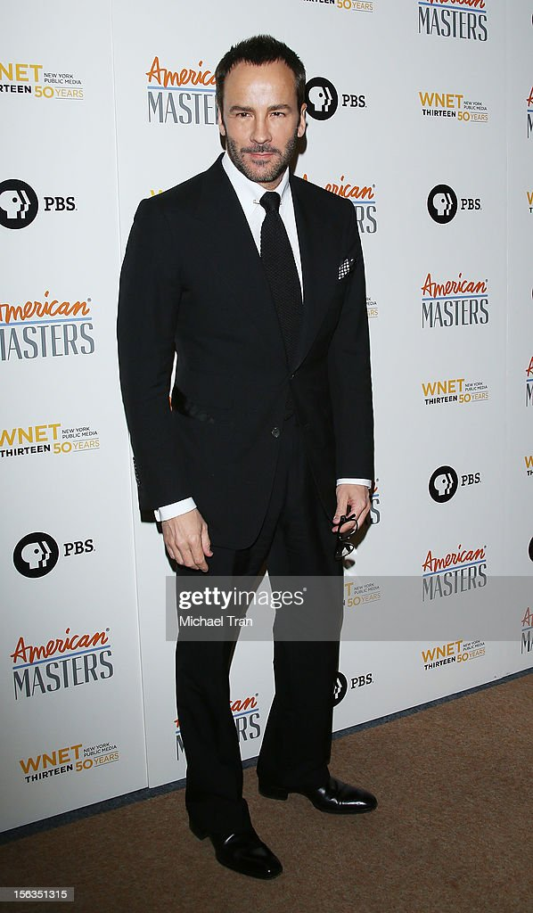 Tom Ford arrives at the Los Angeles premiere of 'Inventing David Geffen' held at Writer's Guild Theater on November 13, 2012 in Los Angeles, California.