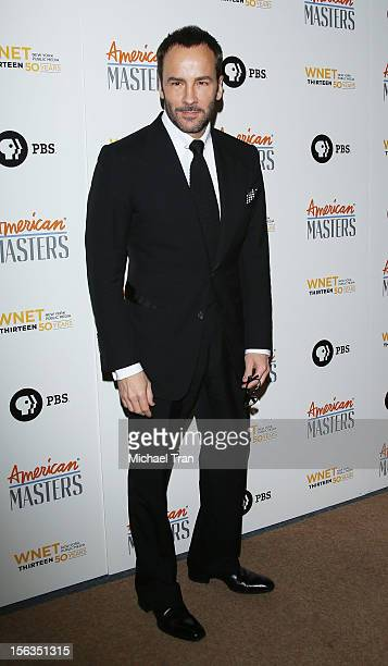 Tom Ford arrives at the Los Angeles premiere of 'Inventing David Geffen' held at Writer's Guild Theater on November 13 2012 in Los Angeles California