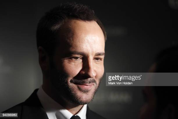 """Tom Ford attends a screening of """"A Single Man"""" hosted by the Cinema Society and Tom Ford at The Museum of Modern Art on December 6, 2009 in New York..."""