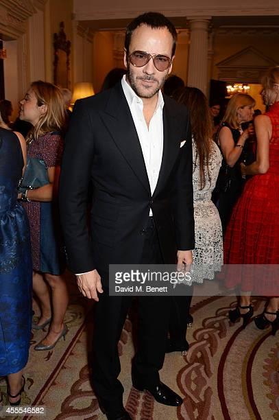 Tom Ford attends as Ambassador Barzun, Mrs Brooke Barzun and Alexandra Shulman celebrate London Fashion Week at Winfield House in association with J...