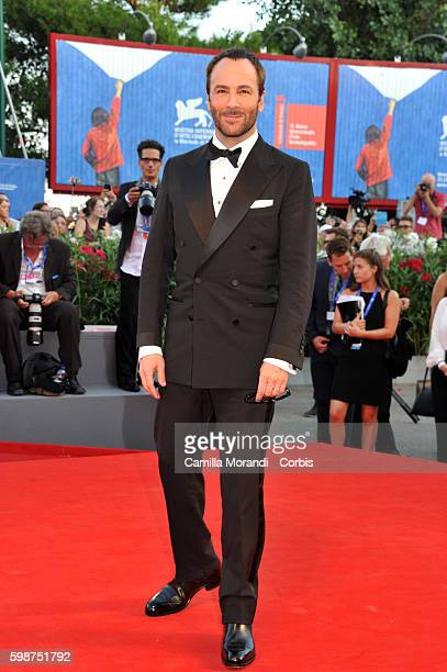 """Tom Ford attends """"Nocturnal Animals' Premiere during the 73rd Venice Film Festival at on September 2, 2016 in Venice, Italy."""