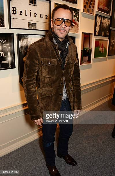 Tom Ford attends the book launch and private view of Mary McCartney Monochrome And Colour curated by De Pury De Pury on November 20 2014 in London...