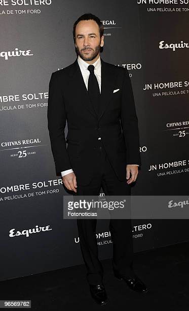 Tom Ford attends the premiere of 'Un Hombre Soltero' at Capitol cinema on February 10 2010 in Madrid Spain