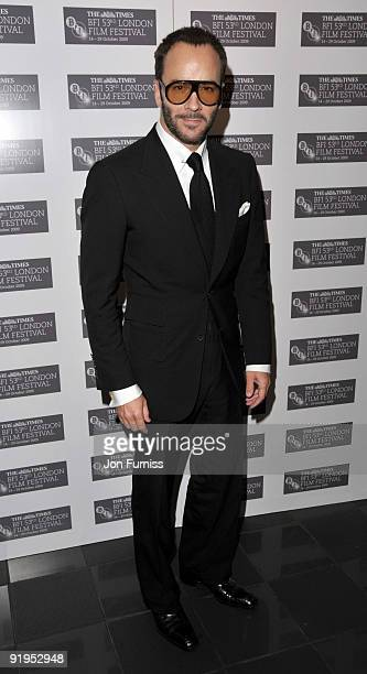 Tom Ford attends the Screening of 'A Single Man' during The Times BFI London Film Festival at Vue West End on October 16 2009 in London England