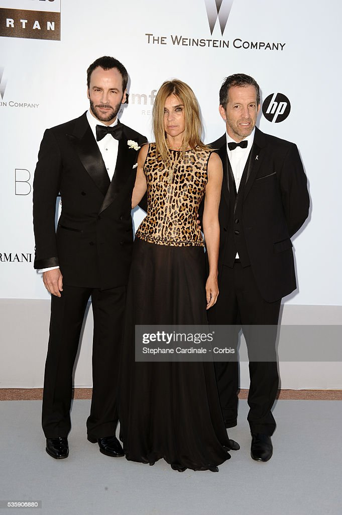 Tom Ford, Carine Roitfeld and Kenneth Cole attend the '2010 amfAR's Cinema Against AIDS' Gala