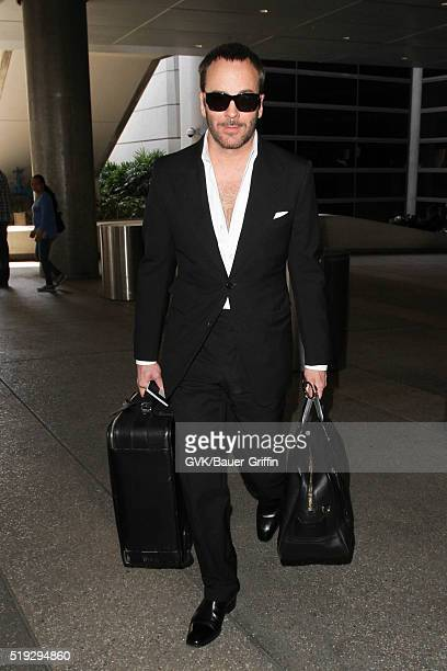 Tom Ford is seen at LAX on April 05 2016 in Los Angeles California