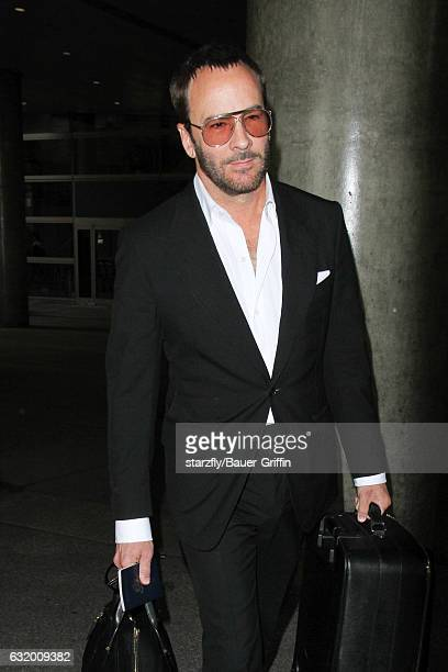 Tom Ford is seen at LAX on January 18 2017 in Los Angeles California