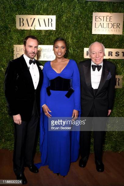 Tom Ford, Jennifer Hudson, and Leonard A. Lauder attend the Lincoln Center Corporate Fashion Gala honoring Leonard A. Lauder at Alice Tully Hall on...