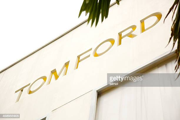 tom ford luxury goods store in beverly hills, california - tom ford designer label stock photos and pictures