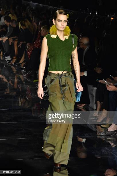 Tom Ford Model attends the Tom Ford AW/20 Fashion Show at Milk Studios on February 07, 2020 in Los Angeles, California.