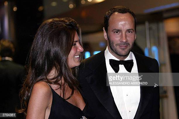 Tom Ford of Gucci Fashion House arrives with an unidentified friend at the premiere of the film Sylvia at the Odeon Leicester Square London 06...