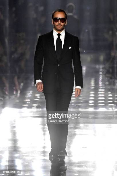 Tom Ford walks the runway at the Tom Ford AW20 Show at Milk Studios on February 07, 2020 in Hollywood, California.