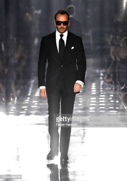 Tom Ford walks the runway at the Tom Ford AW20 Show at Milk Studios on February 07 2020 in Hollywood California