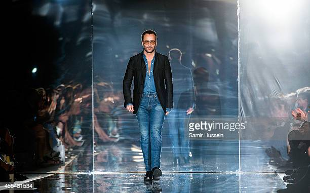 Tom Ford walks the runway at the TOM FORD show during London Fashion Week Spring Summer 2015 on September 15, 2014 in London, England.