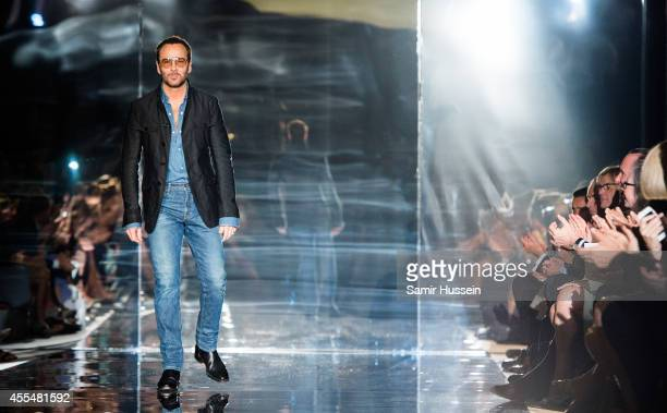 Tom Ford walks the runway at the TOM FORD show during London Fashion Week Spring Summer 2015 on September 15 2014 in London England