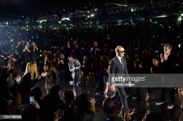 Tom Ford walks the runway at Tom Ford: Autumn/Winter 2020 Runway Show at Milk Studios on February 07, 2020 in Los Angeles, California.