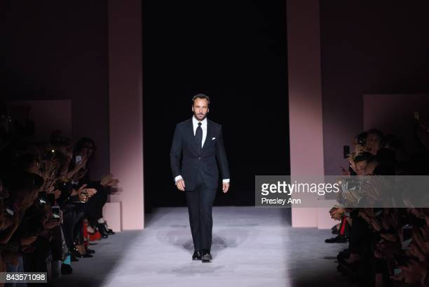 Tom Ford walks the runway at Tom Ford - Runway - September 2017 - New York Fashion Week at 643 Park Avenue on September 6, 2017 in New York City.