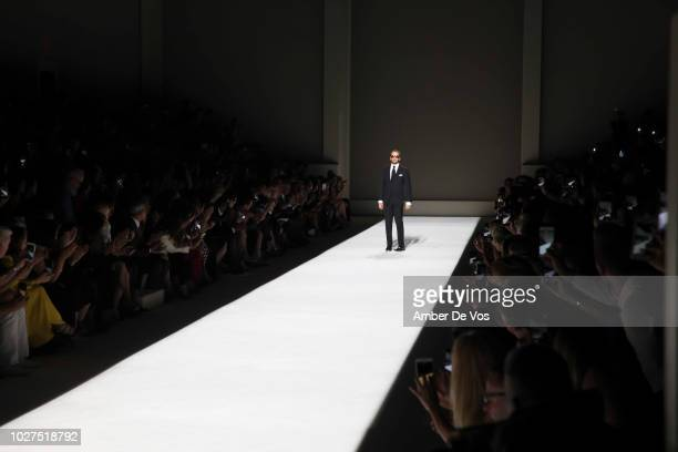 Tom Ford walks the runway at Tom Ford SS19 Fashion Show at Park Avenue Armory on September 5 2018 in New York City