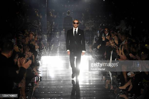 Tom Ford walks the runway during the Tom Ford AW20 Show at Milk Studios on February 07, 2020 in Hollywood, California.