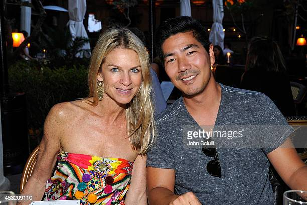 Tom Ford West Coast VIP Relations Director Crystal Lourd and AG Jeans President Creative Director Samuel Ku attend AG Jeans and Vanity Fair Dinner...
