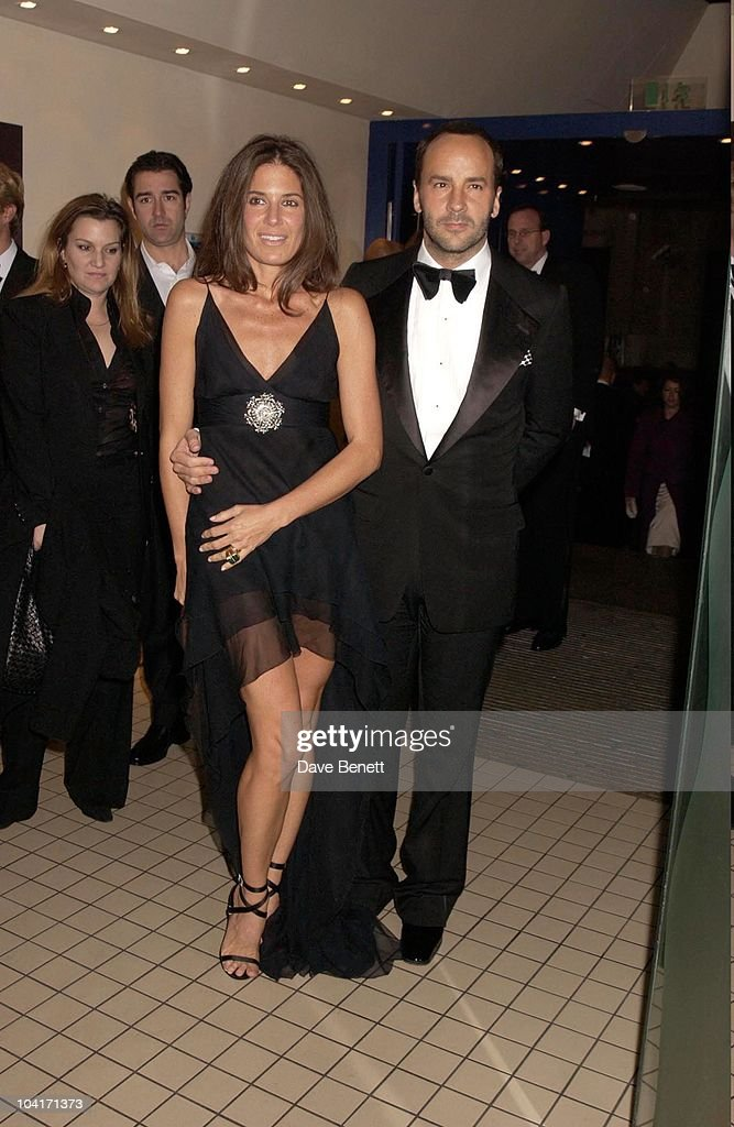 Tom Ford With Elizabeth Saltzman (fashion Editor For Vanity Fair), Sylvia Movie After Party At Mezzo In Wardour Street, London