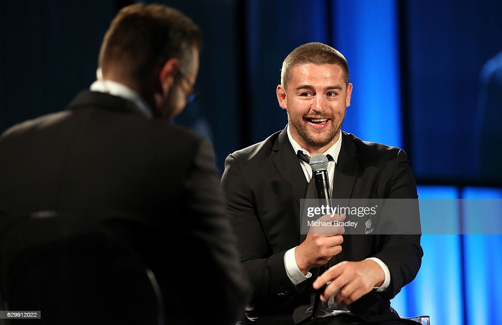Tom French Memorial Maori Player of the Year Dane Coles speaks at the ASB New Zealand Rugby Awards at SkyCity Convention Centre on December 15, 2016 in Auckland, New Zealand.