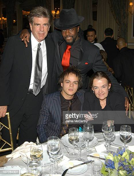 Tom Freston Jamie Cullum Wyclef Jean and Judy McGrath at amfAR's New York Gala to Honor Patti LaBelle Sumner Redstone and Peter Dolan