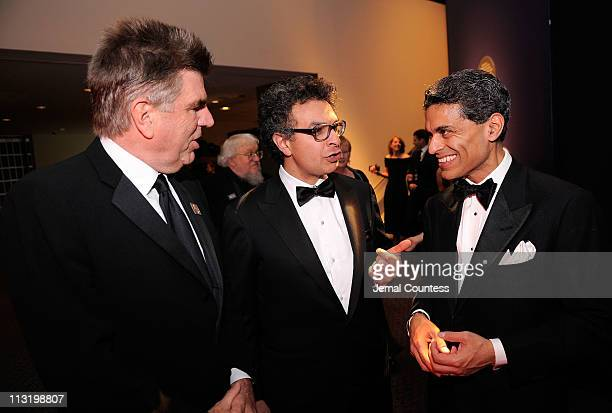 Tom Freston, Saad Mohseni and journalist Fareed Zakaria attend the TIME 100 Gala, TIME'S 100 Most Influential People In The World at Frederick P....