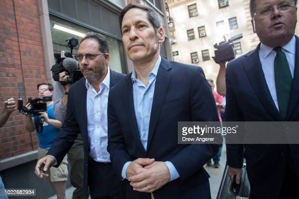 Tom Frieden former Director of the Centers for Disease Control and Prevention exits Brooklyn Criminal Court following his arrest on sex abuse charges...