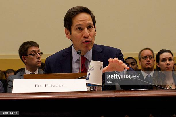 Tom Frieden US Center for Disease Control director addresses a congressional subcommittee hearing on the threat of Ebola on Thursday Aug 7 in...