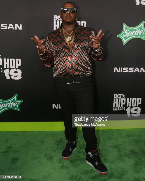 Tom G arrives to the 2019 BET Hip Hop Awards on October 05 2019 in Atlanta Georgia