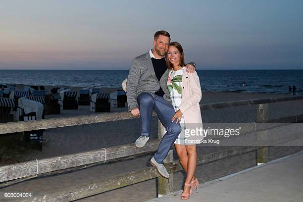 Tom Gaebel and Saskia Runge attend the Till Demtroders CharityEvent 'Usedom Cross Country' on September 10 2016 near Heringsdorf in Usedom Germany