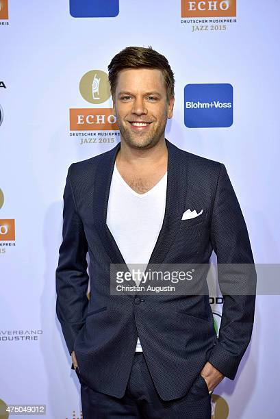Tom Gaebel attends the Echo Jazz 2015 at the dockyard of BlohmVoss on May 28 2015 in Hamburg Germany