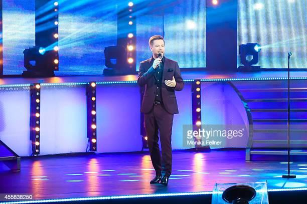 Tom Gaebel performs live on stage at the 'Starnacht aus der Wachau' on September 20 2014 in Rossatz Austria