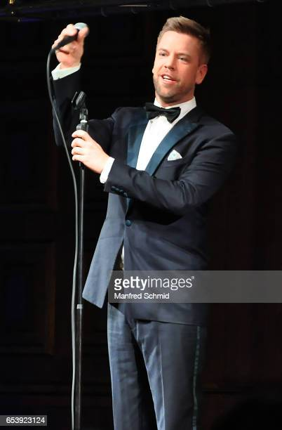Tom Gaebel performs on stage during ORF III program presentation on March 14 2017 in Vienna Austria