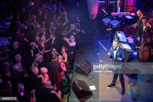 Tom Gaebel performs with his orchestra at the Spring Ball Frankfurt 2017 on March 4 2017 in Frankfurt am Main Germany