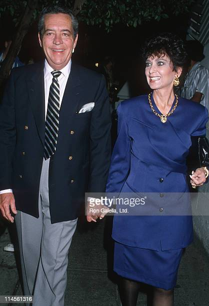 Tom Gallagher and Suzanne Pleshette during Suzanne Pleshette Sighting at Spago Restaurant January 15 1988 at Spago Restaurant in Hollywood California...