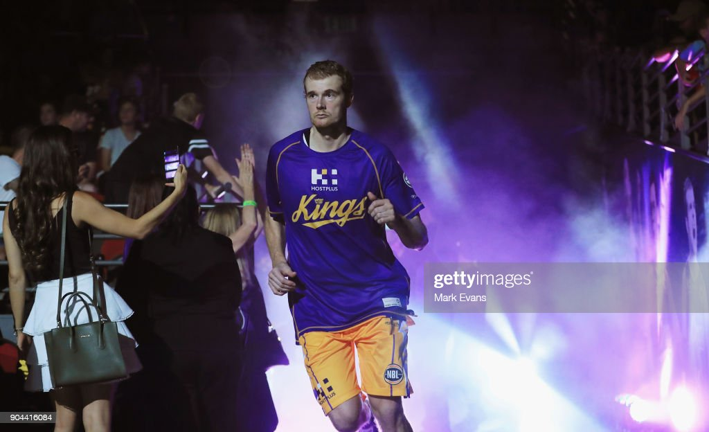 Tom Garlepp of the Sydney Kings enters the arena before the round 14 NBL match between the Sydney Kings and the Adelaide 36ers at Qudos Bank Arena on January 13, 2018 in Sydney, Australia.