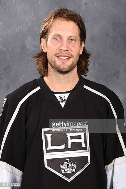 Tom Gilbert of the Los Angeles Kings poses for his official headshot for the 20162017 season on September 22 2016 at the Toyota Sports Center in El...