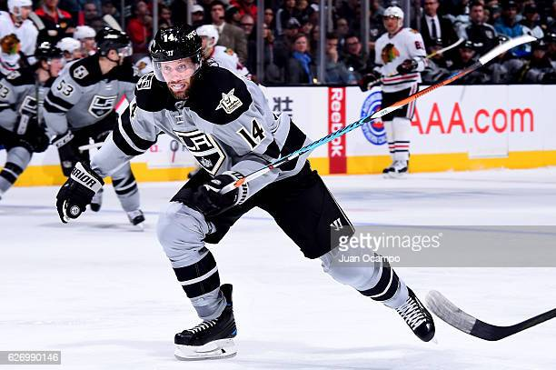 Tom Gilbert of the Los Angeles Kings skates during the game against the Chicago Blackhawks on November 26 2016 at Staples Center in Los Angeles...