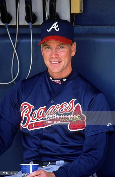 Tom Glavine of the Atlanta Braves poses for a 2001 season portrait Tom Glavine played for the Atlanta Braves from 19872002