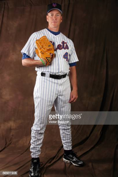 Tom Glavine of the Mets poses for a portrait during the New York Mets photo day on February 24 2006 at Tradition Field in Port St Lucie Florida