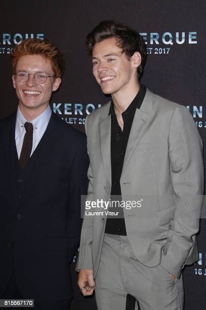 Tom GlynnCarney and Harry Styles attend Dunkirk Premiere at Ocine on July 16 2017 in Dunkerque France