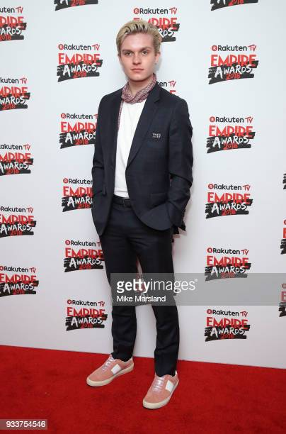 Tom GlynnCarney attends the Rakuten TV EMPIRE Awards 2018 at The Roundhouse on March 18 2018 in London England