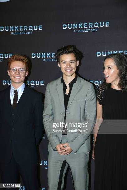 Tom GlynnCarney Harry Styles and Emma Thomas attend Dunkirk Premiere at Ocine on July 16 2017 in Dunkerque France