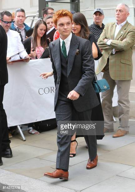 Tom GlynnCarney seen leaving his hotel to the 'Dunkirk' World Premiere on July 13 2017 in London England